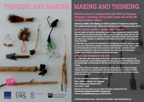 Thinking and Making | Making and Thinking workshop